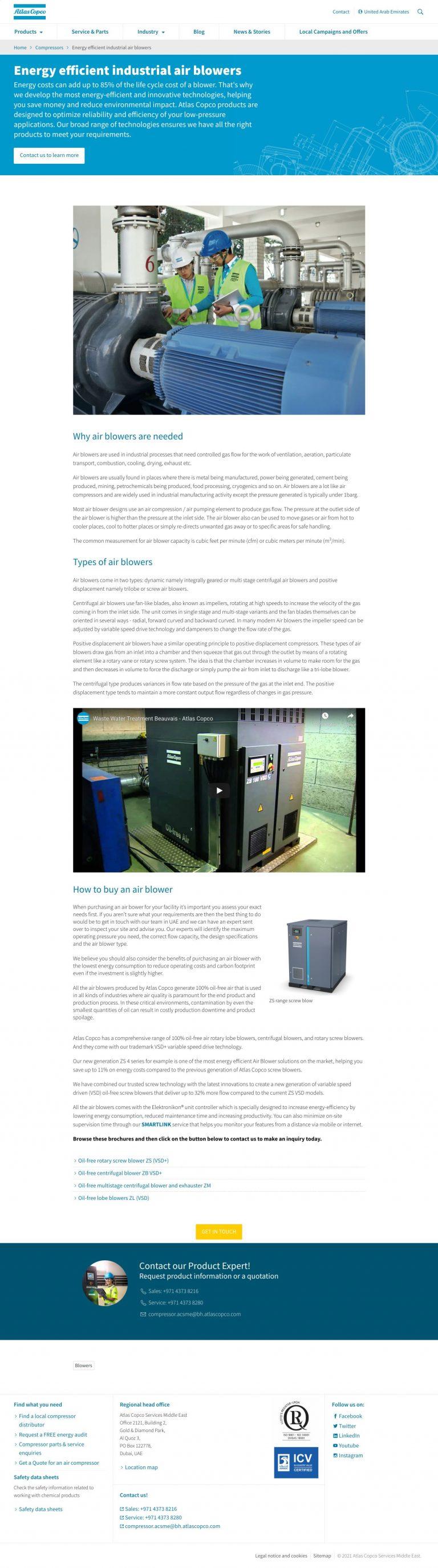Energy-Efficient-Industrial-Air-Blowers-Atlas-Copco-UAE